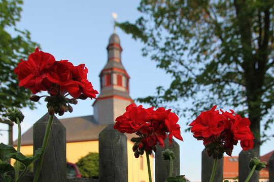 The parish church of Pastor Friedrich Muench in Nieder Gemünden by photographer ©Folker Winkelmann