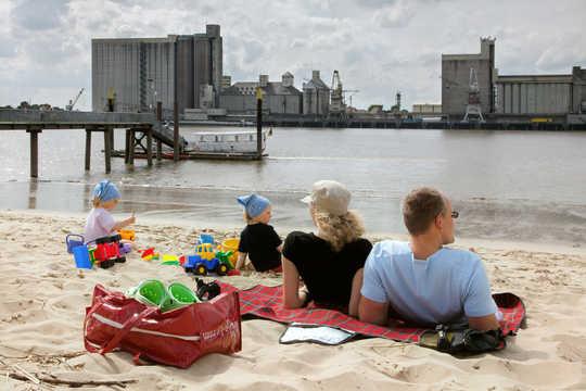 Strandurlaub auf der Weserinsel Harriersand