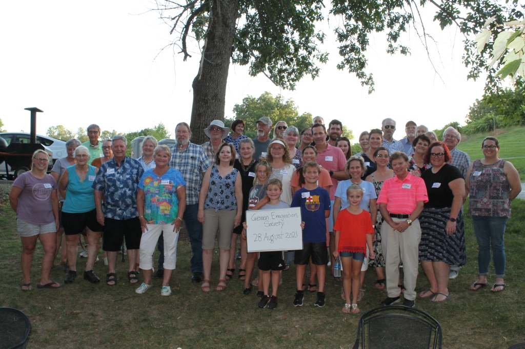 Giessen Emigration Society Descendants Reunion in 2021. Photo by Ron Franklin.